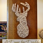 DIY String Art Deer Project