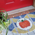 Welcome Fall with a Painted Pumpkin Doormat!