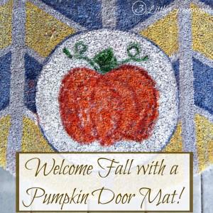 Pumpkin Welcome Mat! by 3 Little Greenwoods