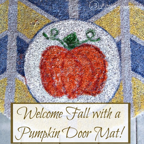 Pumpkin Welcome Mat! by 3 Little Greenwoods