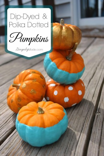 Dip-Dyed Pumpkin from Gingerly Made
