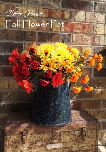 Fall Flower Pot from Clover House