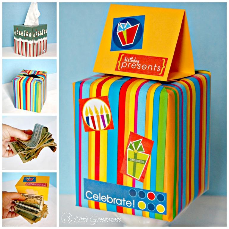 DIY Birthday Gift: Fun Money Gift Box