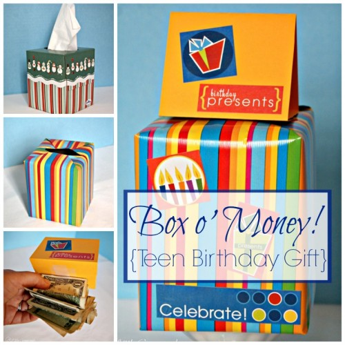 Box o' Money! {Teen Birthday Gift} by 3 Little Greenwoods
