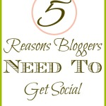 5 Reasons Bloggers need to Get Social
