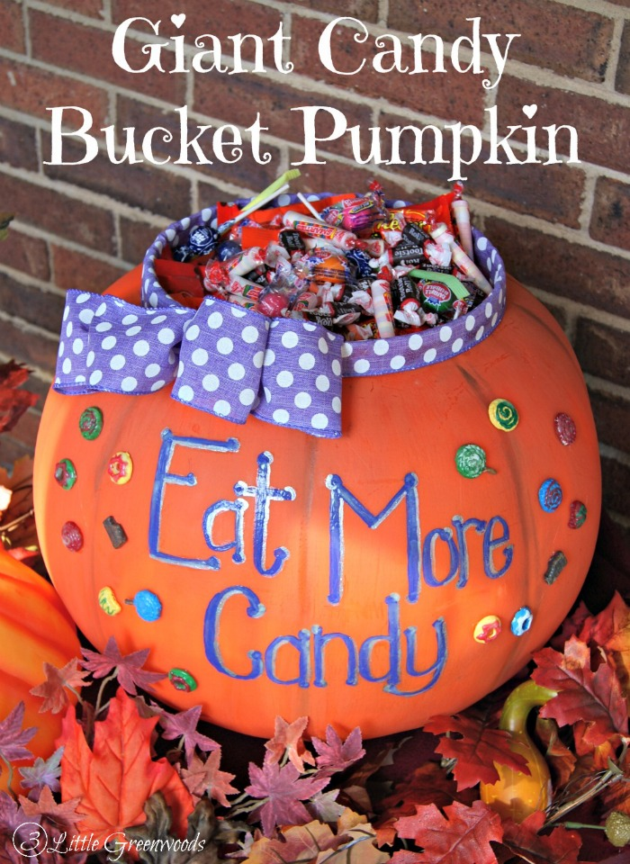 WOW your neighborhood kiddos with this Giant Candy Bucket for Halloween! It's a perfect Halloween decorating idea and so easy to make!