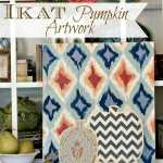 Ikat Pumpkin Artwork