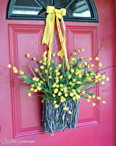 Fall Branch Basket Wreath - DIY Wreath Project by 3 Little Greenwoods