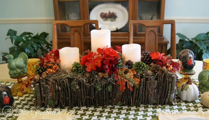 branch basket centerpiece