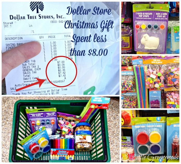 Dollar Store Christmas Gift: Art Supplies {Gift in a Jar} by 3 Little Greenwoods