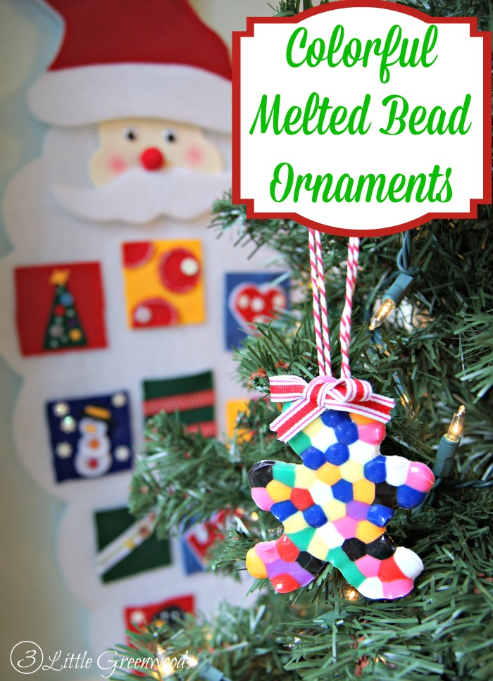 Melted Bead Christmas Ornament https://www.3littlegreenwoods.com