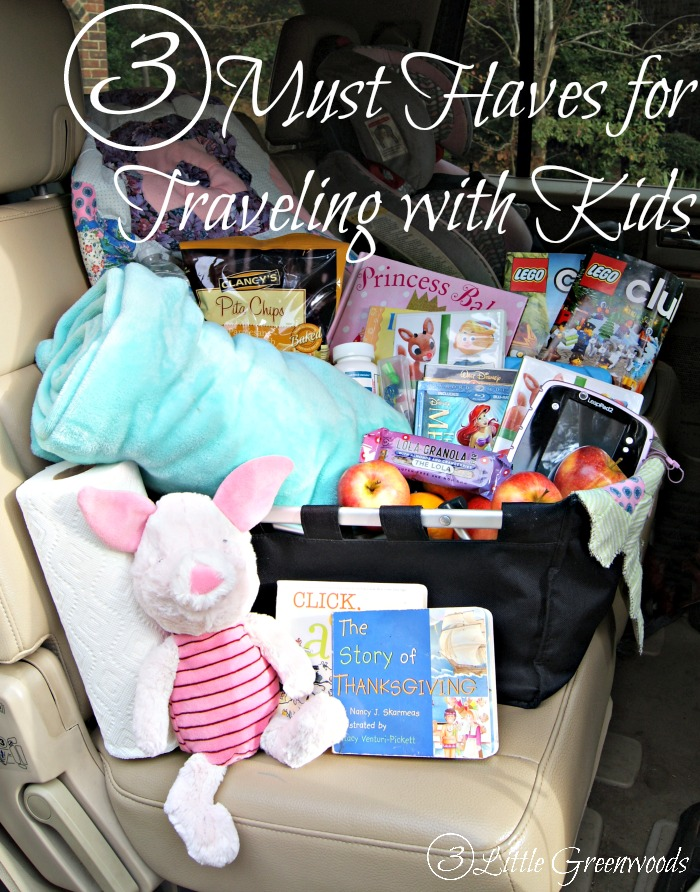 3 Must Haves for Traveling with Kids by 3 Little Greenwoods