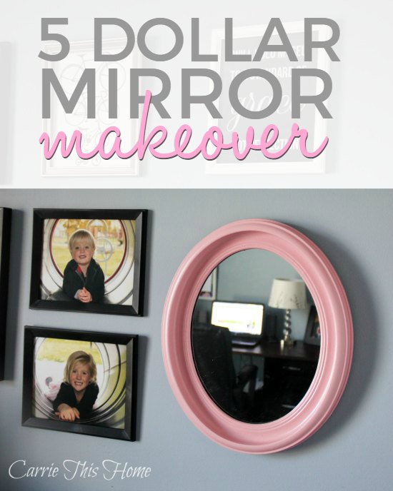 Five Dollar Mirror Makeover