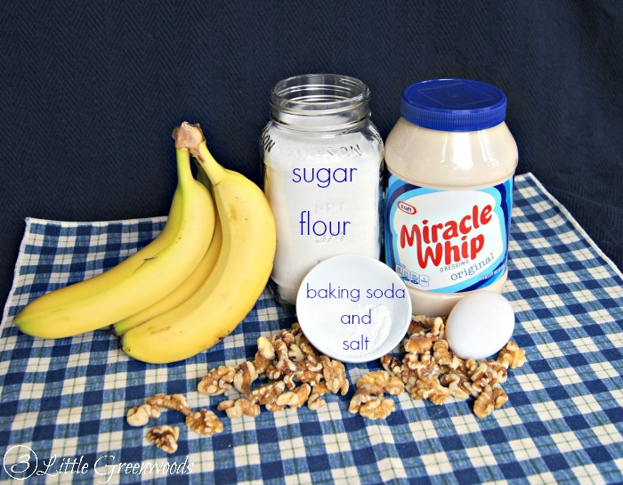 Easy Banana Bread Recipe with MIRACLE WHIP