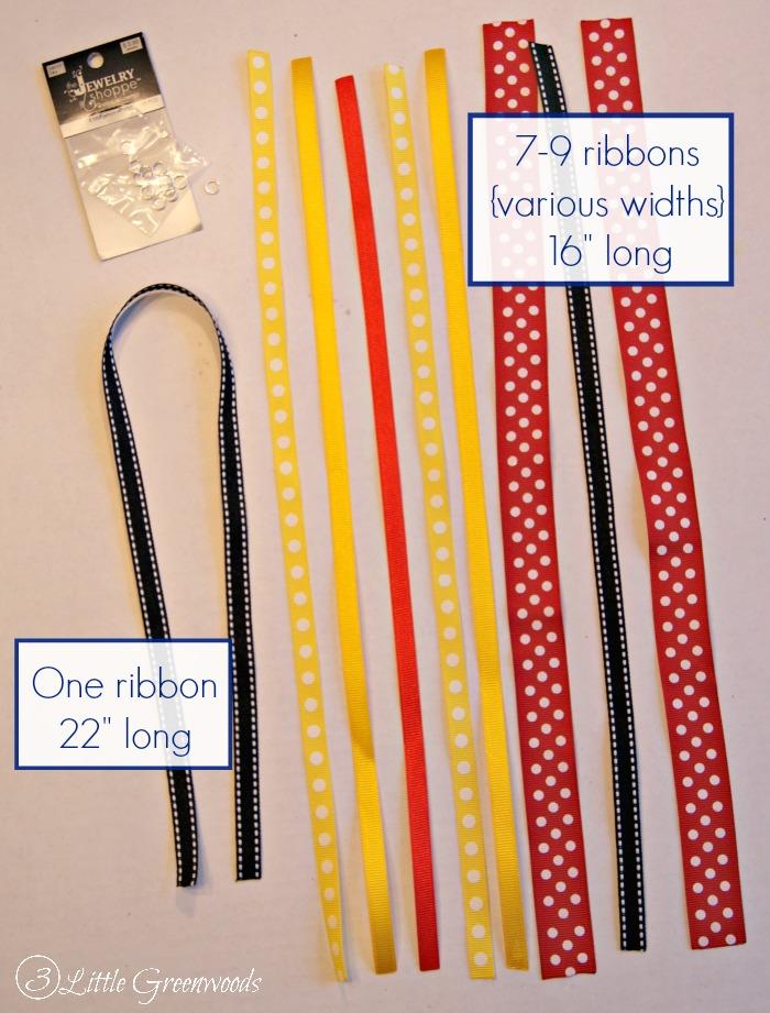 Disney Ribbon Tassel Keychain: Organize Me! https://www.3littlegreenwoods.com