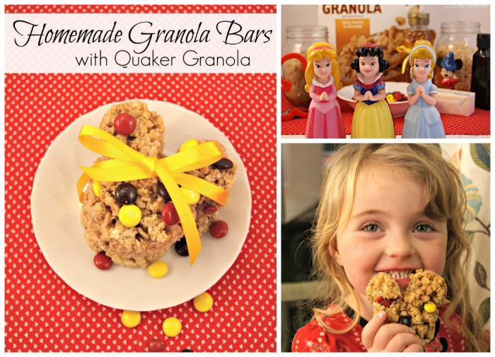 Homemade Granola Bars with Quaker Granola https://www.3littlegreenwoods.com