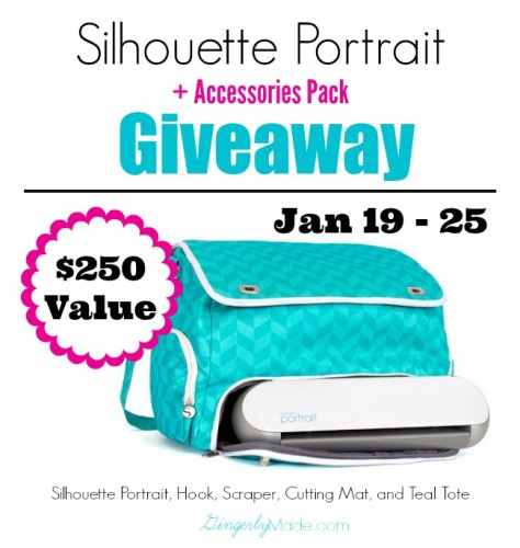 January Silhouette Portrait Giveaway with 3 Little Greenwoods