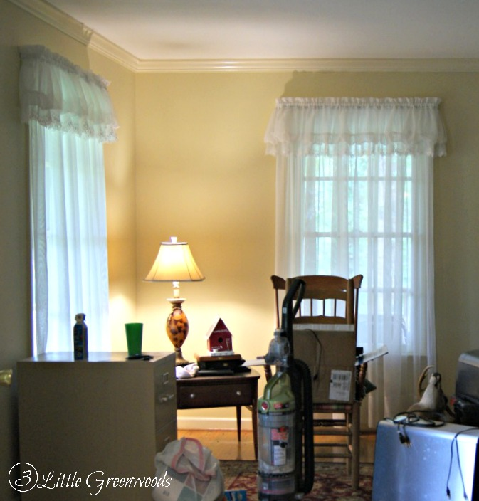 The Most Confused Room in Our Home: The beginnings of a Home Office Makeover https://www.3littlegreenwoods.com