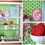 Tips and DIY Home Decor Projects for Styling a Kitchen Hutch for Valentine's Day https://www.3littlegreenwoods.com