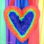 Rainbow Heart Party Decor Tutorial {Guest Post}