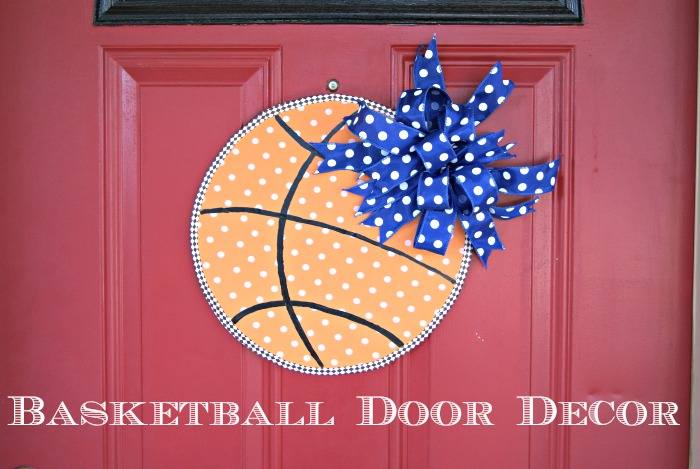 Slam Dunk Basketball Door Decor {My Crafty Spot Guest Post}
