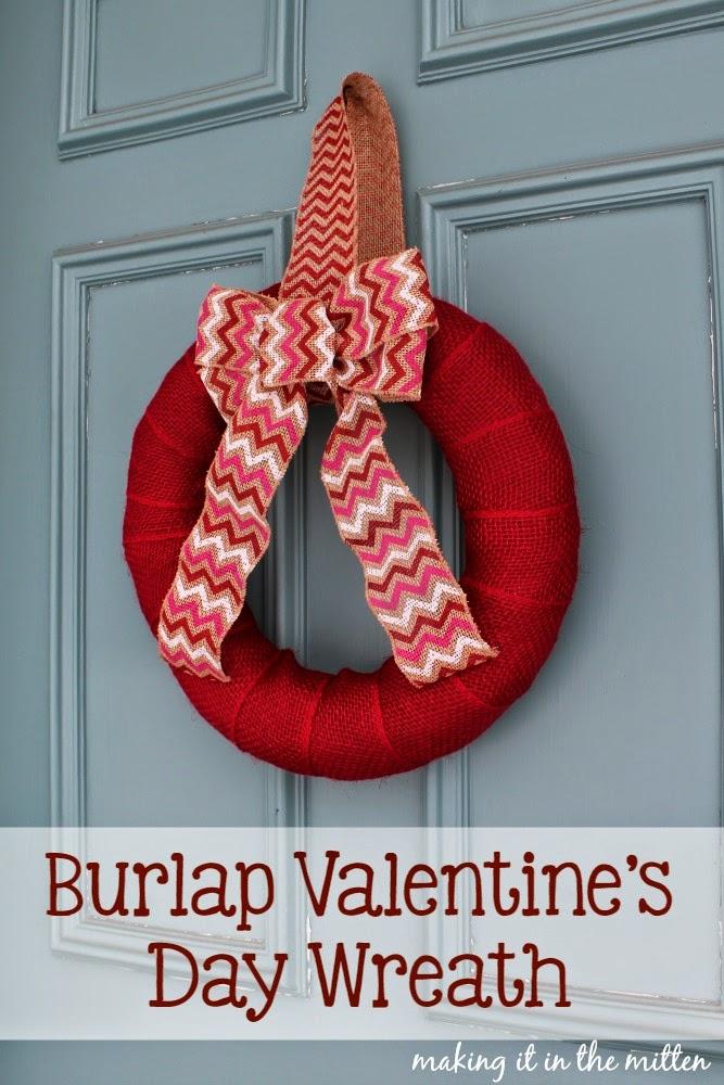 burlap valentines dat wreath