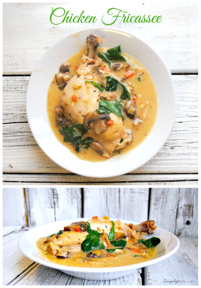 Chicken Fricassee Recipe: Wonderful Weeknight Meal {Guest Post from Gingerly Made}