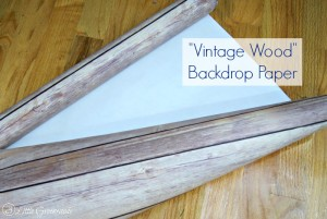 """Look of real wood but the ease of paper! Faux """"Vintage Wood"""" Backed Bookcase {Easy DIY Decor} https://www.3littlegreenwoods.com"""