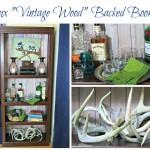 "Faux ""Vintage Wood"" Backed Bookcase {Easy DIY Decor}"