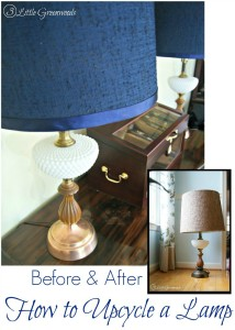 AMAZING Tutorial on How to Upcycle a Lamp for your #homedecor by 3 Little Greenwoods #DIYlamp #DIYlampshade