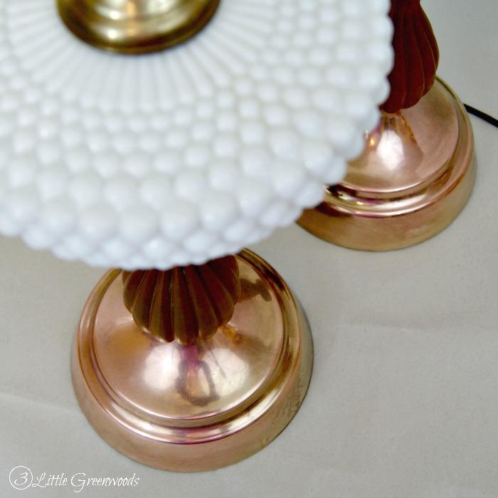 DIY Lamp Update: Milk Glass Lamps for Our Home Office Makeover https://www.3littlegreenwoods.com