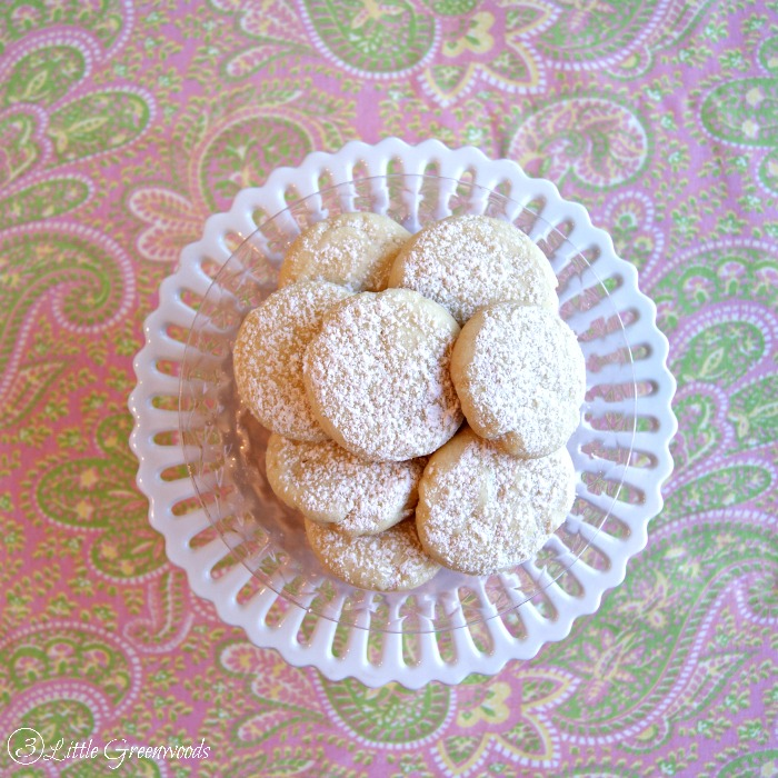 Lemon Tea Cakes {School of Southern Cooking} Dainty Cookies Perfect for a Tea Party! http//:www.3littlegreenwoods.com