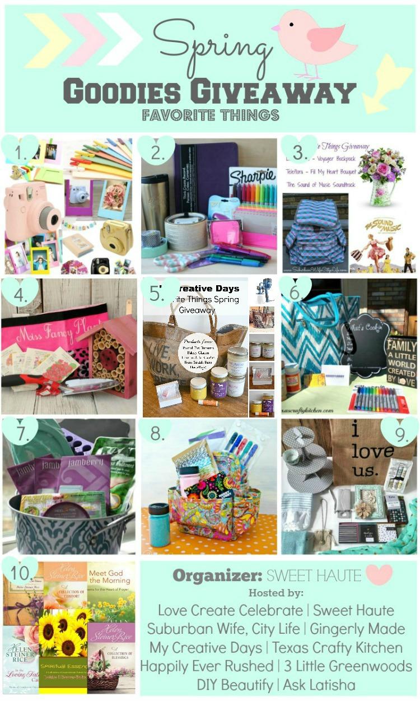 Goodies Giveaway Spring Fav Things-SWEET HAUTE 1