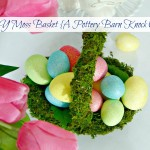 DIY Moss Basket for An Easter Tablescape