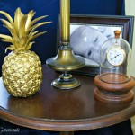 DIY Brass Pineapple {A Thrift Store Upcycle} Turn a cheap plastic pineapple into an awesome accessory! https://www.3littlegreenwoods.com