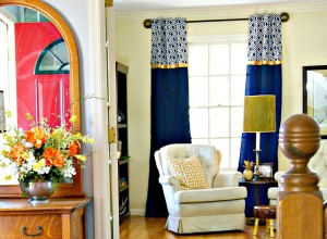 AMAZING tutorial for inexpensive, no-sew curtains! DIY Window Curtains for Our Home Office by 3 Little Greenwoods #DIYWindowCurtains #WaysToSave #DIY Curtains