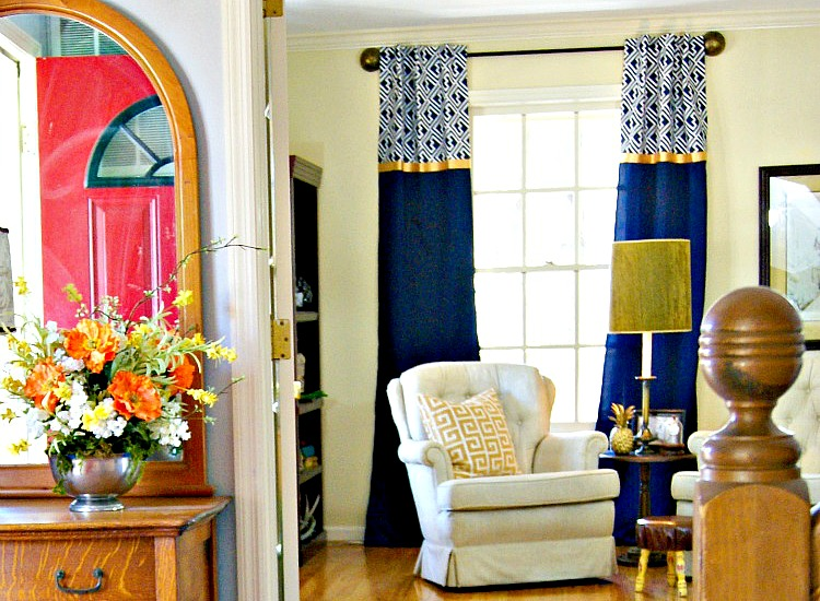 The Dining Room Is Back 4 Ways To Revive Your Fabulous: DIY Curtain Rods Ever {Finials Too}
