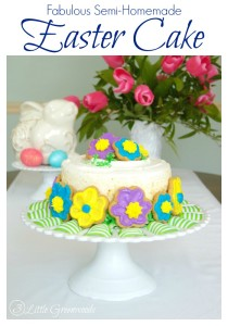 AMAZINGLY simple tutorial for decorating a Semi-Homemade Easter Cake! #Easter #SemiHomemade #easterCake