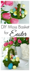 MUST pin tutorial for DIY Moss Basket! An easy Easter craft for an Easter tablescape! // 3 Little Greenwoods