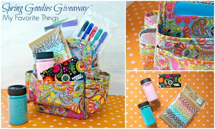 Spring Goodies Giveaway ~ My Favorite Things by 3 Little Greenwoods