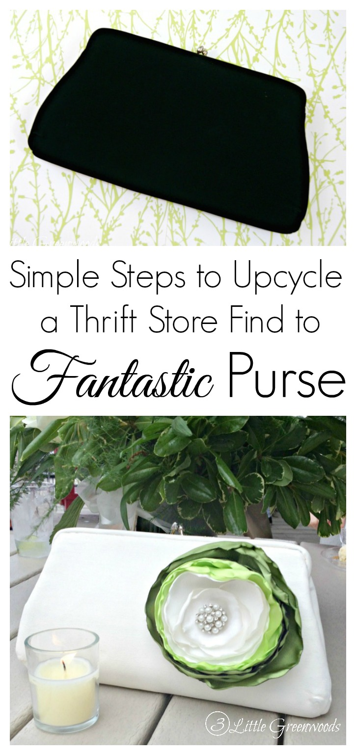 Simple Steps to Upcycle a Clutch Purse: Turn a thrift store find into a fabulous DIY Clutch Purse that's perfect for spring weddings!