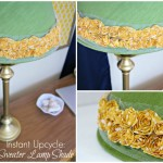 DIY Lamp Shade with a Sweater