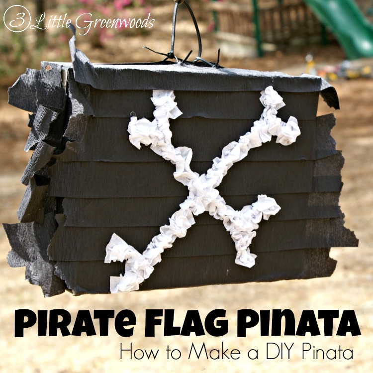 MUST PIN tutorial for How To Make DIY Pinata for a Pirate Birthday Party by 3 Little Greenwoods! Simple way to make a Pirate Pinata!