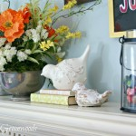 Tips for Spring Mantel Decor