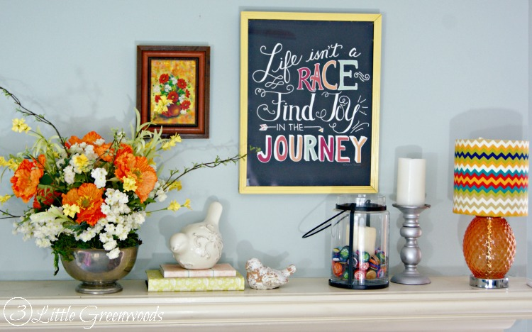 Want a pretty mantel for Springtime? Try these SIMPLE Mantel Decor Ideas for Spring by 3 Little Greenwoods #SpringDecor #MantelDecor