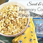Sweet and Spicy Rosemary Cashew Popcorn Snack Mix