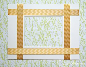 Simplest DIY Frame Update Ever! Just add ribbon to make this customizable DIY Picture Frame Mat by 3 Little Greenwoods #DIY #DIYFrame