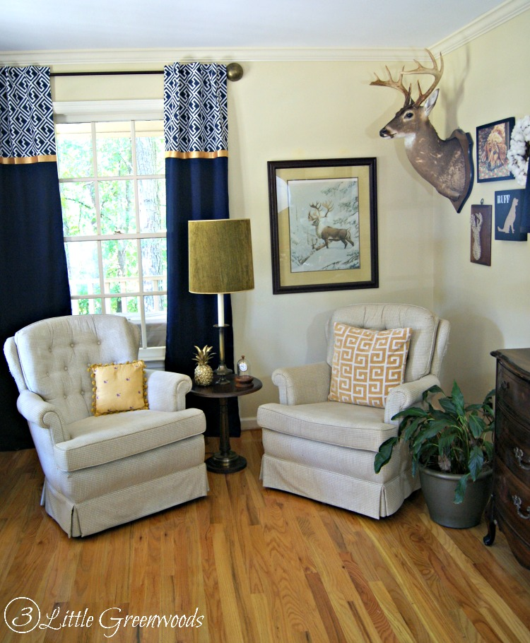 Home Design Ideas Curtains: A Southern Gentleman's Home Office