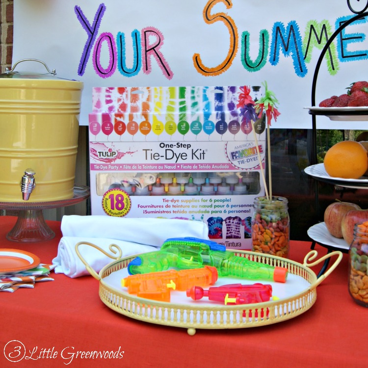 Super Fun Tie Dye Your Summer Party Planning Ideas to Welcome Summer! by 3 Little Greenwoods