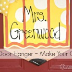 Personalized Teacher Pencil Door Hanger